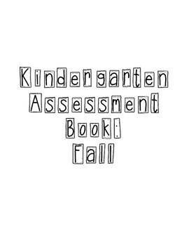 Kindergarten Fall Progress Check
