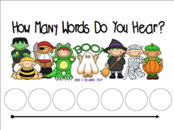 Kindergarten Fall Word and Syllable Count
