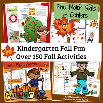 Kindergarten Fall and Thanksgiving Activities