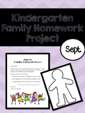 Kindergarten Family Homework Project - September