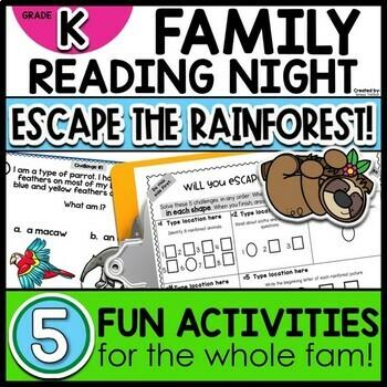 Kindergarten Family Night Escape the Rainforest