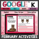 Kindergarten February Activities for Google Classroom™ Dis