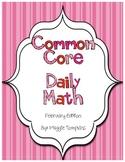 Kindergarten February Common Core Daily Math