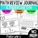 February Kindergarten Daily Spiral Review Math Journal