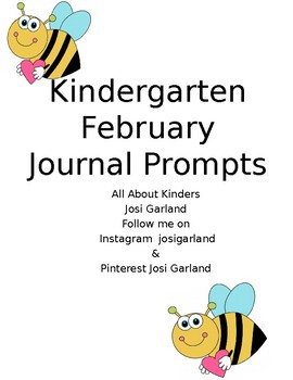 Kindergarten February Journal Prompts
