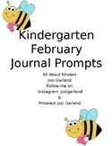 Kindergarten February Journal Prompts