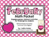 Kindergarten February Math Packet- Stations, Mini Lessons, Activities & Games