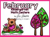 Kindergarten February Math Centers
