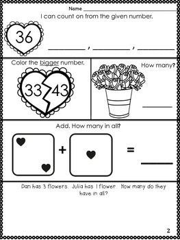 Kindergarten February Math Journal