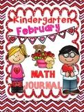 Kindergarten February Math Journal