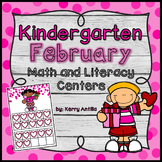 Kindergarten February Math and Literacy Centers
