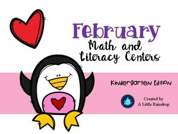 Kindergarten February Math and Literacy Centers