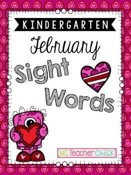 Kindergarten February Sight Word Search