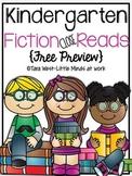 Kindergarten Fiction Close Read FREEBIE
