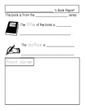 Kindergarten Fiction and Non-fiction Book Report Template