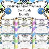 Kindergarten-Fifth Grade Go Math Chapter Review Homework BUNDLE