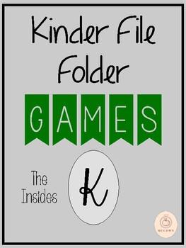 Kindergarten File Folder Games