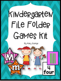 Kindergarten File Folder Games Kit