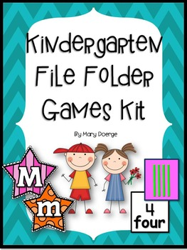 Kindergarten File Folder Games Kit