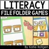 Kindergarten File Folder Games {Literacy Pack}