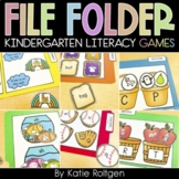 Kindergarten File Folder Games {Literacy Pack}