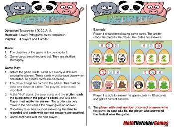 Kindergarten File Folder Math Games