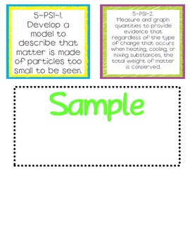 Kindergarten File Folder Stickers for Next Generation Science Standards