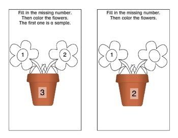 Kindergarten- Fill In The Missing Number 1-10