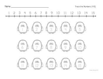 Kindergarten Fill in the Numbers
