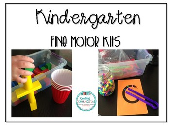 Kindergarten Fine Motor Kits