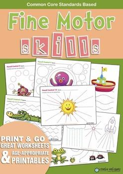 Kindergarten Fine Motor Skills Worksheets (FREE)