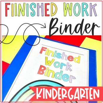Kindergarten Finished Work Binder