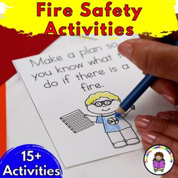 Kindergarten Fire Safety Literacy Worksheets