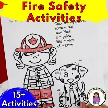 Fire Safety Worksheets for Kindergarten Centers