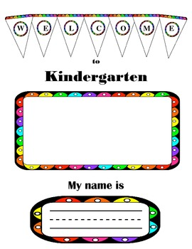 Kindergarten First Day My Name Is...