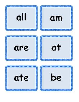 Kindergarten/First Dolch Sight Words Work