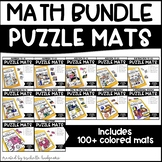 Kindergarten, First Grade, 2nd Grade Math Activities | Puzzle Mats MATH BUNDLE