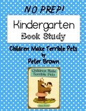 Kindergarten & First Grade Book Study: Children Make Terrible Pets {No Prep}