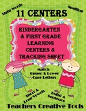 Kindergarten & First Grade Centers & Tracking Sheet