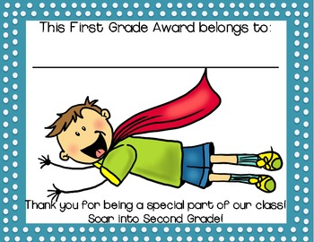 Kindergarten & First Grade End of Year Awards