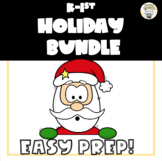 Kindergarten/First Grade Holiday Activity Bundle