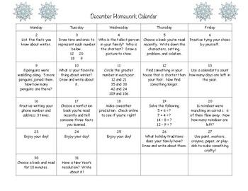Kindergarten/First Grade Homework Calendars - Full Year!