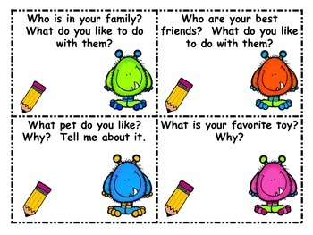 Kindergarten First Grade Journal Task Cards