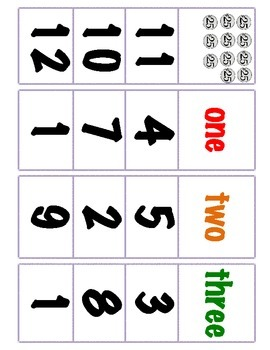 Kindergarten First Grade Math Clip Cards