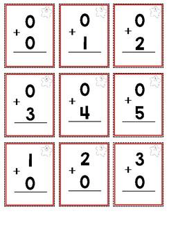 Kindergarten & First Grade Math Fact Fluency Cards 0-10