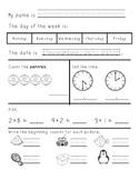 Kindergarten/First Grade Morning Work January through June