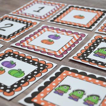 Kindergarten & First Grade NEW Math TEKS: Fall Subitizing Math Centers