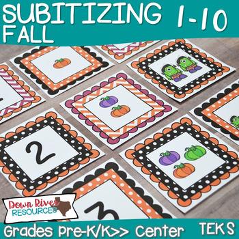 Kindergarten & First Grade NEW Math TEKS: Fall Subitizing