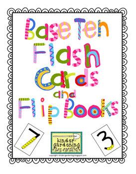 Kindergarten First Grade Base Ten Math Flash Cards