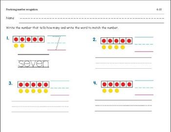 Kindergarten & First Grade Number Recognition